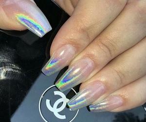 nails, acrylics, and beauty image
