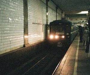 train, photography, and subway image