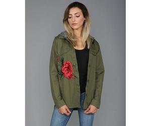 embroidered, green, and jackets image