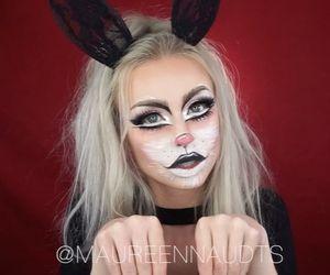 bunny, Halloween, and makeup image