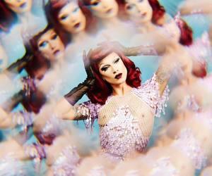 drag, drag queen, and kaleidoscope image