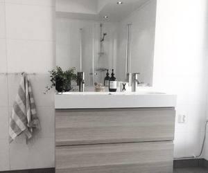 bathroom, white, and Blanc image