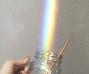 cup, rainbow, and vintage image