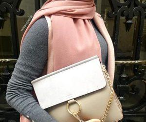 chloe bag and neutral hijab image