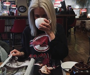 magazine, ray, and coffee image