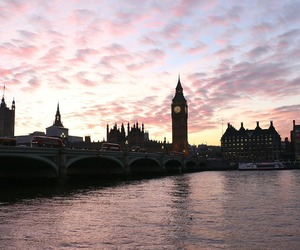 london, beautiful, and sunset image
