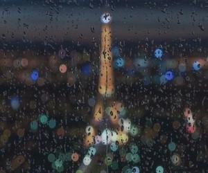 paris, rain, and city image