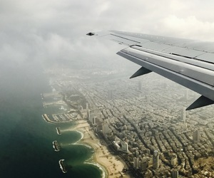airplane, traveling, and city image