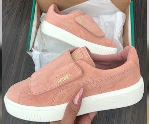 puma, shoes, and pink image