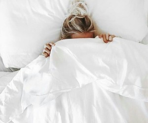 bed, white, and morning image
