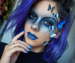blue and Halloween image