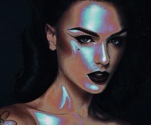 makeup, blue, and Halloween image