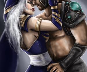 ashe, couple, and leagueoflegends image