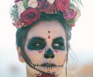 day of the dead, makeup, and dia de los muertos image