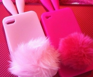 pink, iphone, and bunny image