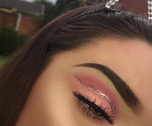 eye makeup, eyebrows, and makeup image