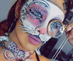 alice in wonderland, Halloween, and makeup image