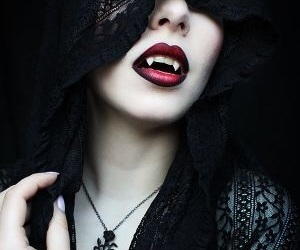 vampire, black, and dark image