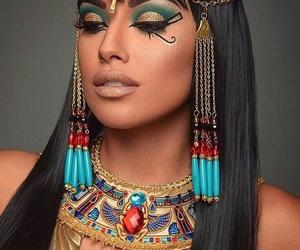cleopatra, Halloween, and makeup image