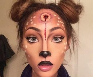 makeup, Halloween, and girl image