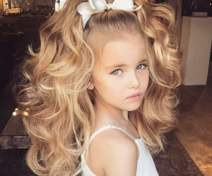 girl, baby, and blonde image