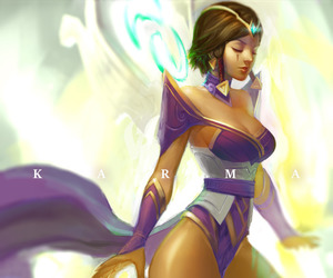 art, girl, and karma image
