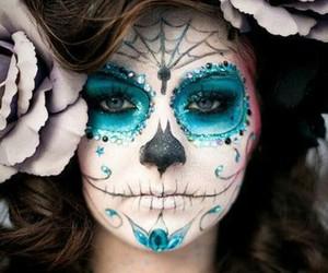 make up and halloween beauty image