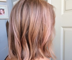 beautiful, hair, and rose gold image