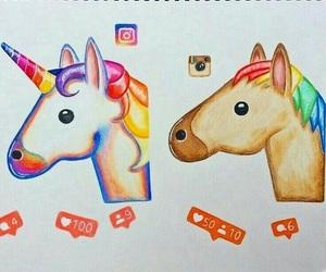 unicorn, licorne, and instagram image