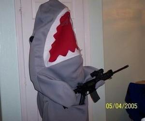 shark, funny, and grunge image