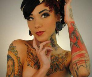 sexy and tattooed image
