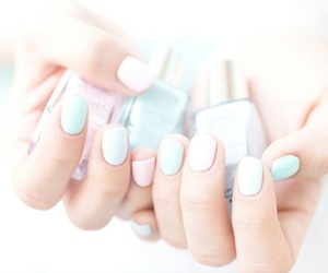 nails, pastel, and nail polish image