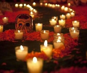 day of the dead, dia de muertos, and skull image