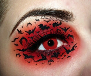 eyes, Halloween, and make up image