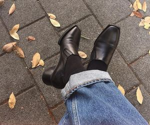 autumn, boot, and fall image