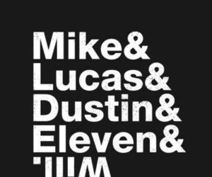 eleven, dustin, and lucas image