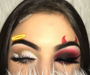makeup, angel, and Halloween image