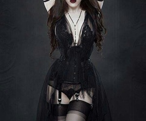 black, dark, and goth image