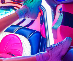 neon, aesthetic, and shoes image