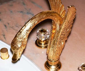 gold, luxury, and interior image