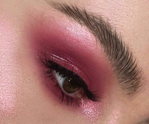 makeup, pink, and aesthetic image