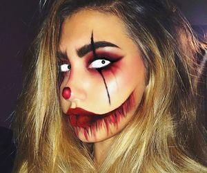 clown, makeup, and halloween makeup image