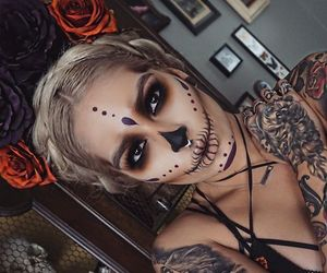 contest, halloween makeup, and day of the dead image