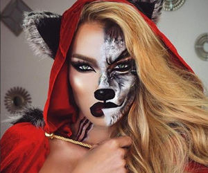 Halloween, makeup, and wolf image
