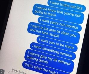 text and sad image
