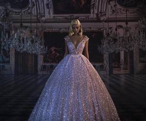 dress, princess, and bride image