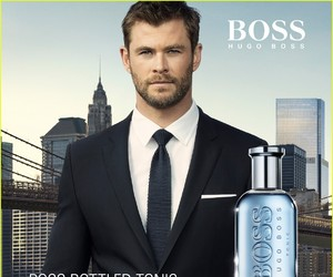 actor, Hugo Boss, and chris hemsworth image