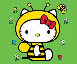bee, hello kitty, and kawaii image
