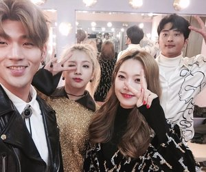 bm, jiwoo, and somin image