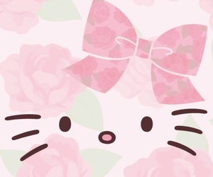 floral, flower, and hello kitty image